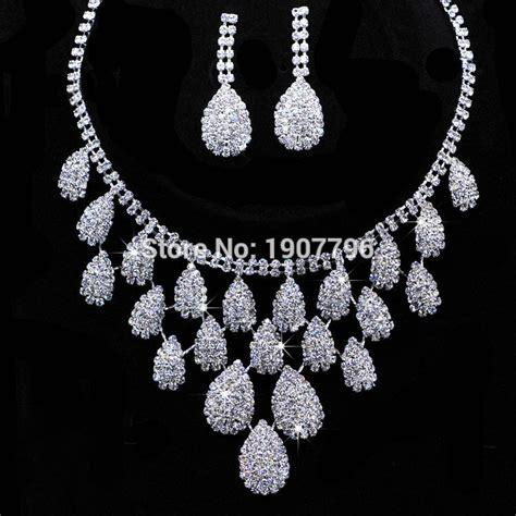 Jewellery Xuping Gift Set 6 aliexpress buy lot shining wedding bridal jewelry sets gift set tear drop necklace set