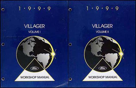 service and repair manuals 1999 mercury villager electronic toll collection 1999 mercury villager repair shop manual original 2 volume set