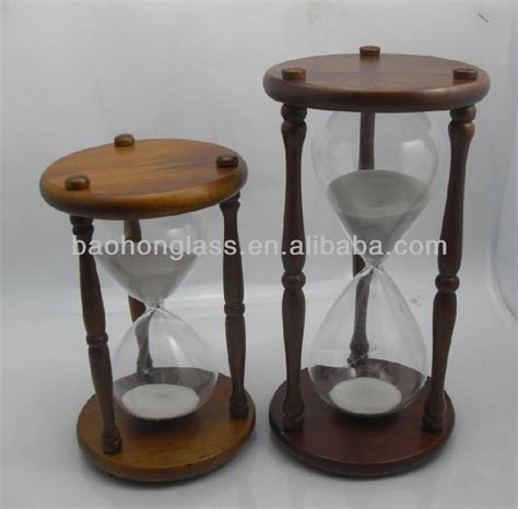 Hourglass Home Decor by Large Wooden Hourglass Sand Timer 1 Hour For Home Decor