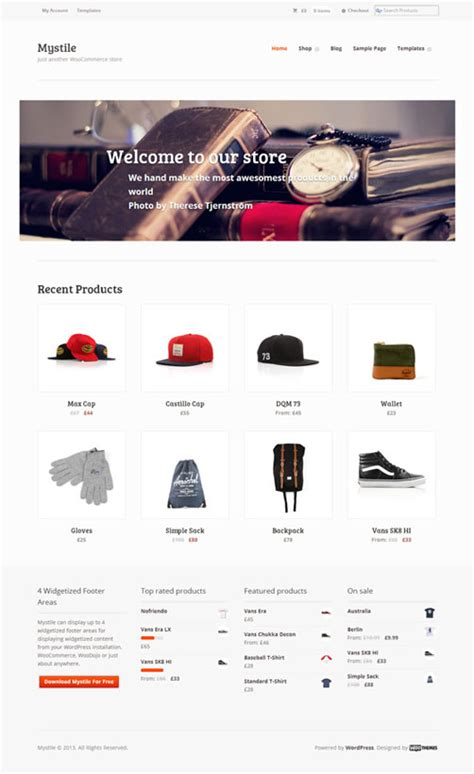 free wordpress ecommerce theme 10 free ecommerce wordpress themes download premium style