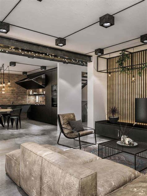chic industrial loft  lithuania  modern updates
