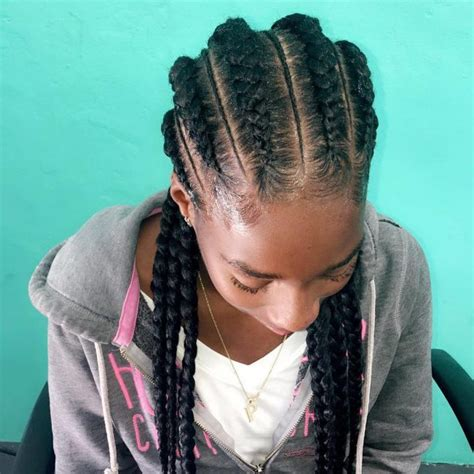 plated strait back hairstyles cornrow braids in a bun short hairstyle 2013