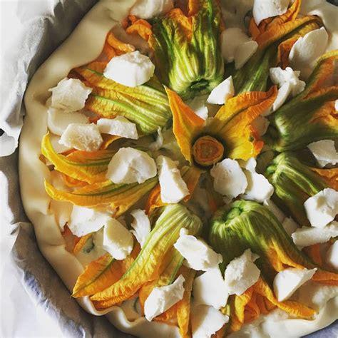 torta salata ai fiori di zucca torta salata estiva ai fiori di zucca menta piperita