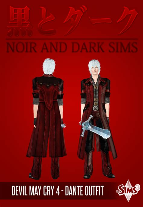 mod the sims dante devil may cry 4 devil may cry 4 dante outfit for males by