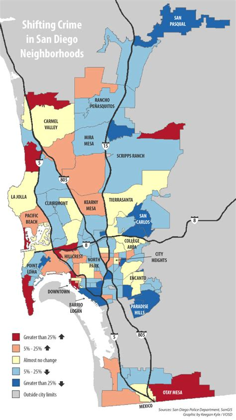 sections of san diego map shifting crime in san diego neighborhoods voice of