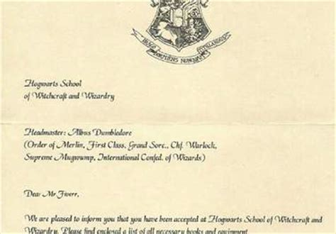 Official Hogwarts Letter Create A Personalized Hogwarts Acceptance Letter For You Fiverr