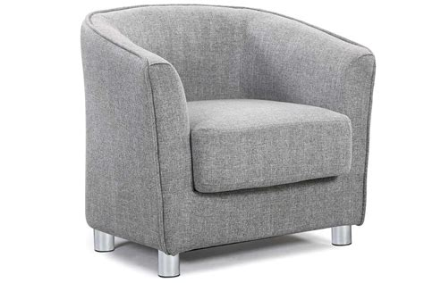 bucket couch vegas grey fabric upholstered tub bucket chair