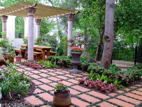 mediterranean backyard in houston mediterranean