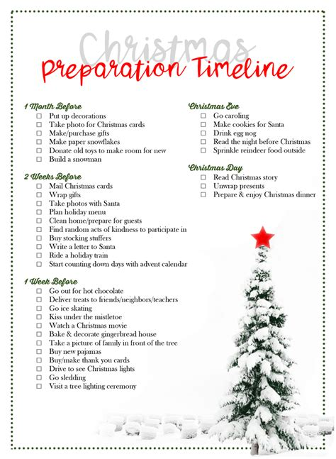 christmas preparation timeline by laurel smith the diy