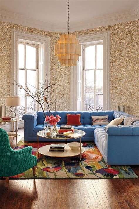 anthropologie living room petal pusher gold roll anthropologie colorful living