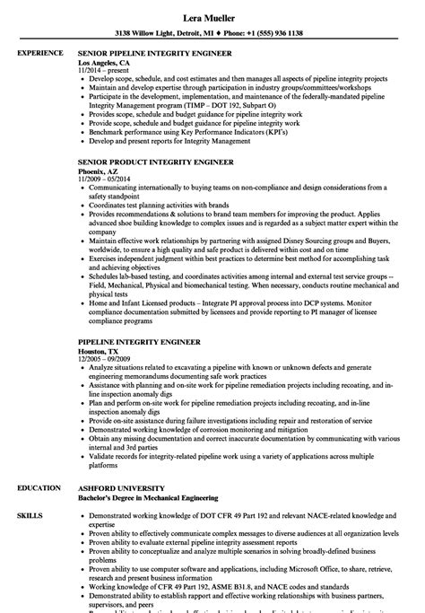 Corrosion Specialist Cover Letter by Corrosion Specialist Sle Resume Sle Resumes For Freshers