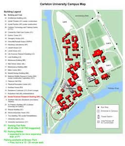 college cus map carleton u map