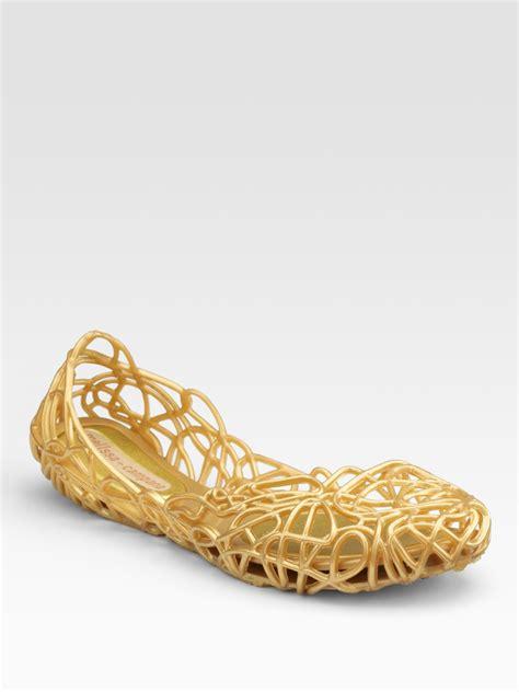 New Flat Jelly Shoes Elegan Sepatu Jelly Flat Slip On Shoes Keren cana jelly ballet flats in gold goldglitter lyst