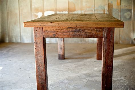 reclaimed wood farm table and vanity reclaimed wood