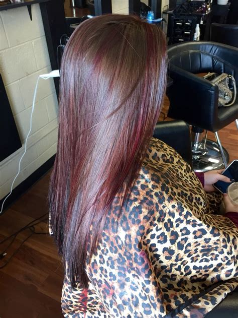 pinterest rich violets reds browns long hair brown red violet highlights black underneath hair by