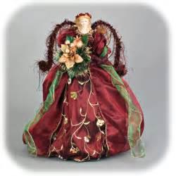 Burgundy angel tree topper home decoration tricks