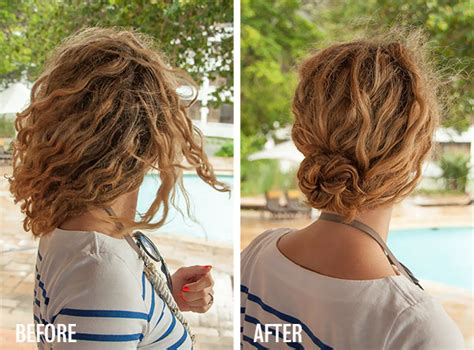 hairstyles after braids 1 minute hairstyle braided bun in curly hair new video
