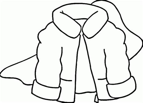 free coloring page jacket winter clothes coloring pages coloring home