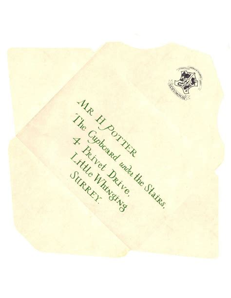 image result hogwarts acceptance letter envelope