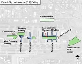 Phoenix Sky Harbor Map by Phoenix Sky Harbor Airport Parking Phx Airport Long Term
