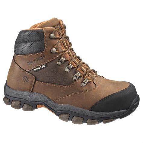 mens steel toe hiking boots s wolverine harden tex waterproof steel toe eh