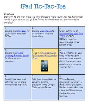 tic tac toe menu template interactive learning menus choice boards using