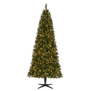 dunken quick set christmas tree home accents 7 5 ft pre lit led wesley slim spruce set artificial tree