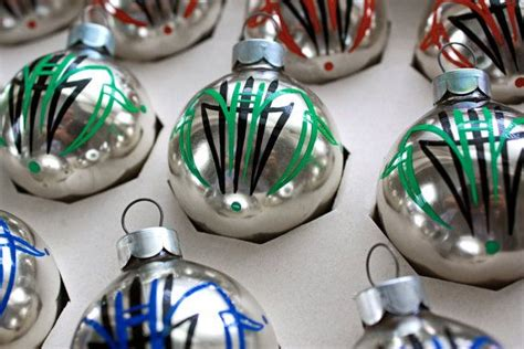 pinstriped christmas ornaments set of 12 hot rod