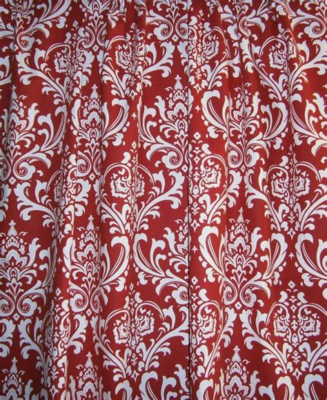 red shower curtains fabric designer fabric shower curtain ozborne damask red and