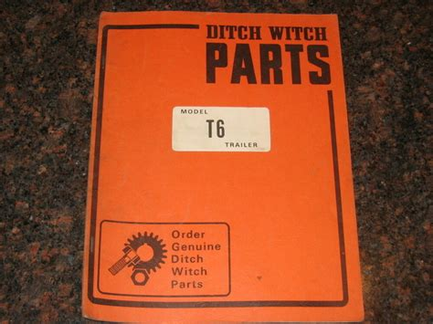Ditch Witch T6 Trailer Parts Catalog Book Manual Ebay