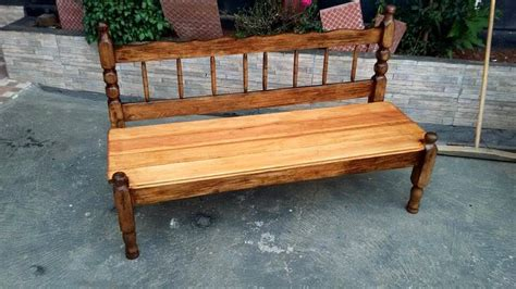 Bench from old headboard footboard amp pallets