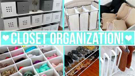 youtube organizing closet organization ideas youtube