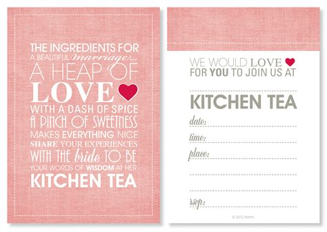 kitchen tea invitation ideas kitchen tea invitations