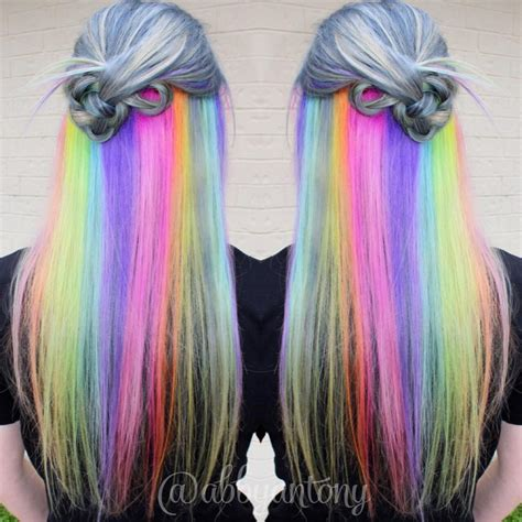 bright color hair dye holographic hair color hair colors ideas