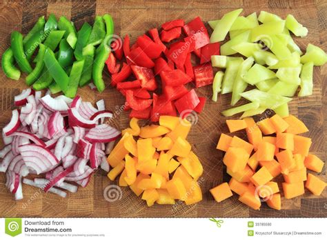 diced vegetables stock photo image 33785590