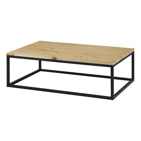 table basse bois et metal 99 table basse rectangulaire bois et m 233 tal achat vente