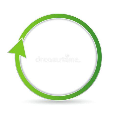 freccia clipart freccia circolare verde illustrazione vettoriale