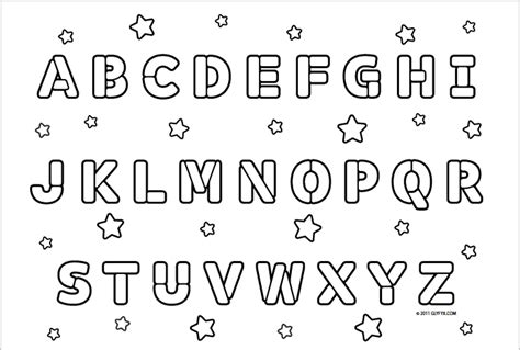 printable alphabet letters to colour alphabet coloring pages bestofcoloring com