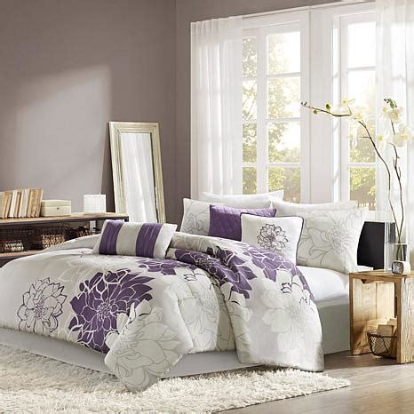 purple grey white bedroom madison park lola bedding set gray purple 10063822 hsn