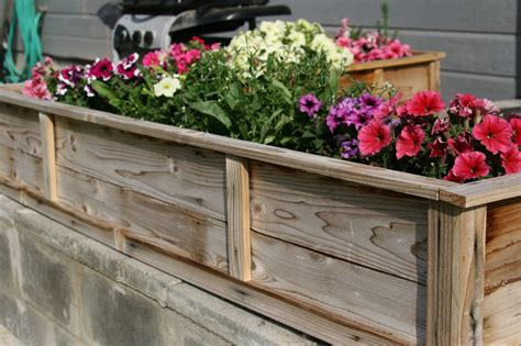 Flower Bed Planters white raised flower planter beds diy projects