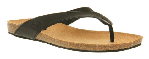 scholl slippers scholl tist toe bar sandal black leather in black lyst