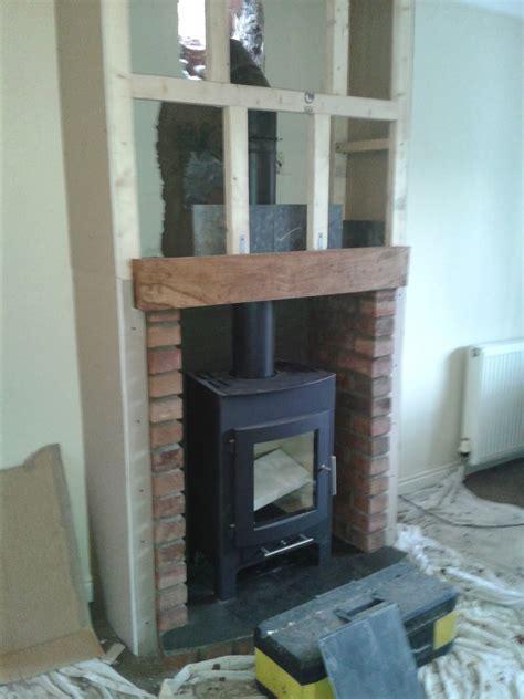 mock chimney breast  la casa pinterest stove