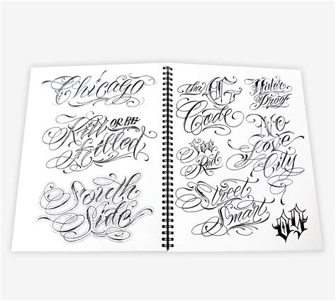 tattoo lettering books blood sweat script lettering book