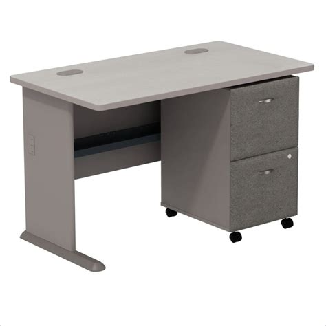 Computer Desk With File Drawer bush series a 48 quot computer desk w 2 drawer file cabinet