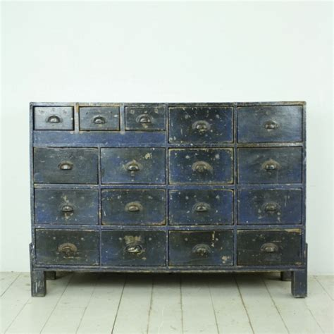 Industrial Chest Of Drawers by Painted Vintage Industrial Chest Of Drawers