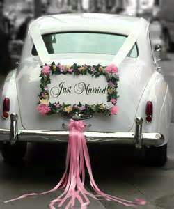 vintage wedding car decoration just married creative