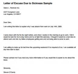 excuse letter for writing professional letters