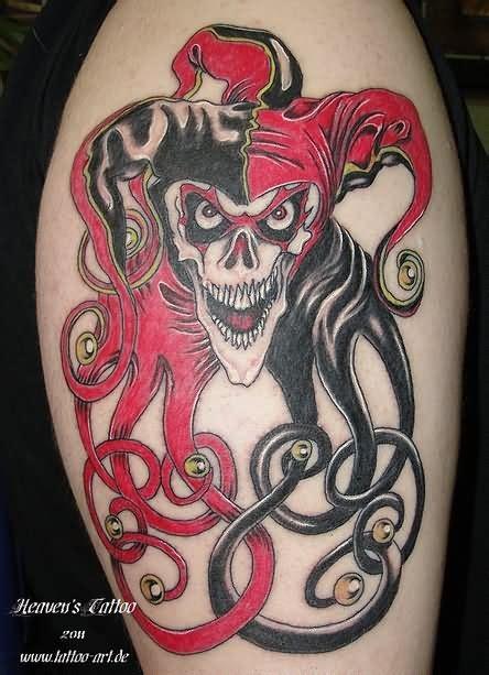 tattoo skull joker clown tattoo images designs