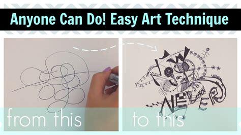 doodle techniques easy doodle technique great for quote arts
