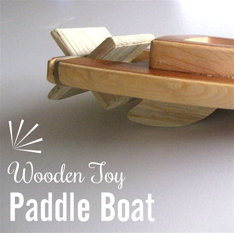 wooden toy boat easy tutorial reality